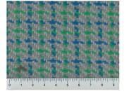 Tissu Tweed Chiné Bleu