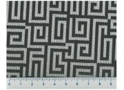Tissu Géométrique Blanc Noir