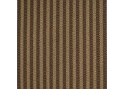 Tissu rayé marron