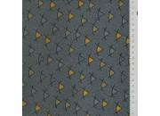Tissu MB Pyramide gris/jaune